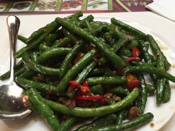 Sauteed String Beans and Minced Pork